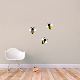 Set of Bumble Bees Wall Decals