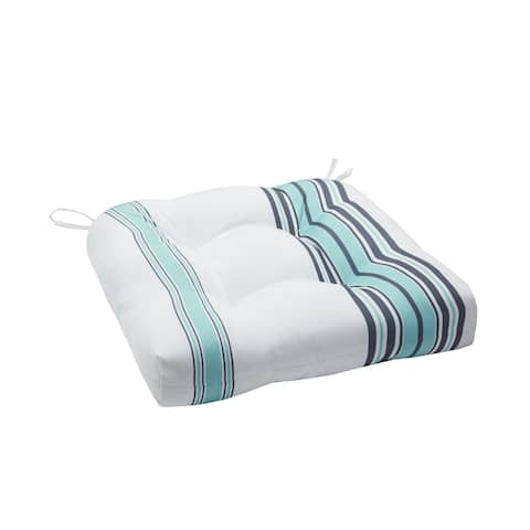 Madison Park Bolinas Printed Stripe 3M Scotchgard Outdoor Cushion
