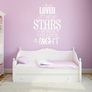 I Have Loved The Stars Too Fondly Wall Decal (32-inch wide x 48-inch tall)