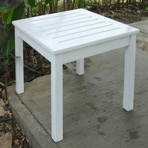 Cambridge Casual Alston White Square Side Table
