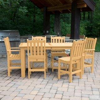 Highwood Eco-friendly Synthetic Wood Lehigh 7-piece Rectangular Counter-height Dining Set