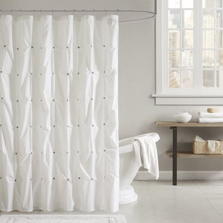 INK+IVY Masie Cotton Shower Curtain