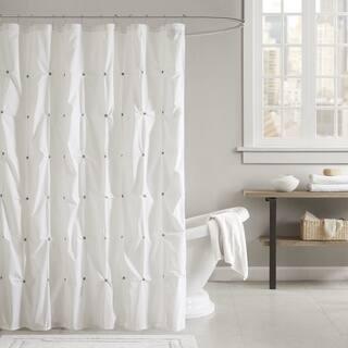 INK IVY Masie Cotton Shower Curtain