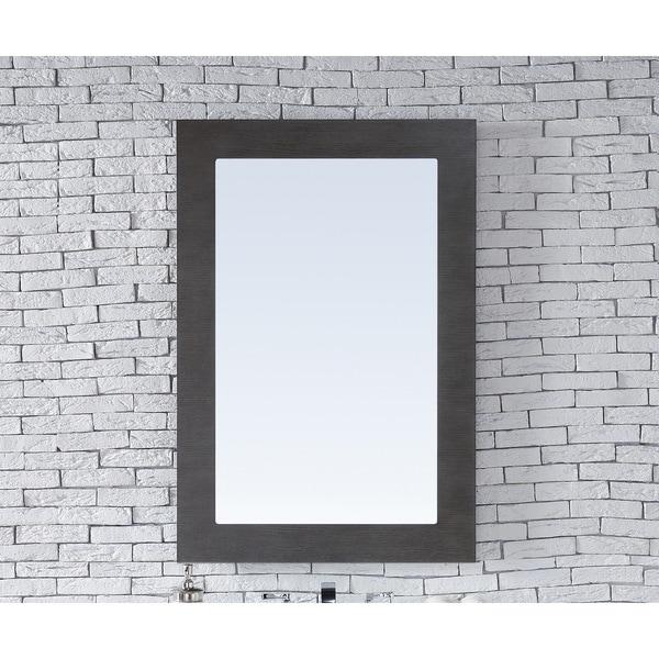 Metropolitan Silver Oak 30-inch Mirror - Brown
