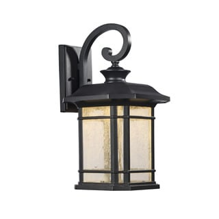 Chloe Traditional 1-light Black LED Outdoor Wall Lantern