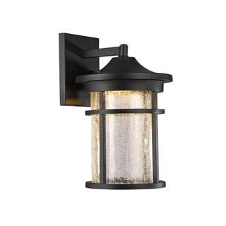 Chloe Transitional 1-light Black LED Outdoor Wall Lantern