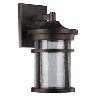 Outdoor wall lighting for less overstock chloe transitional 1 light oil rubbed bronze led outdoor wall lantern workwithnaturefo