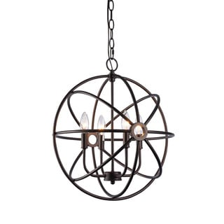 Chloe Transitional 4-light Oil Rubbed Bronze Pendant