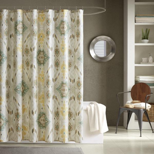 INK+IVY Nia Seafoam 100-percent Cotton Shower Curtain