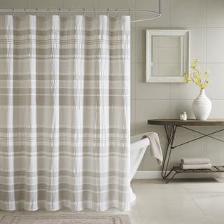 beige and gray shower curtain. INK IVY Lakeside Grey 100 percent Cotton Shower Curtain Curtains For Less  Overstock com Vibrant Fabric