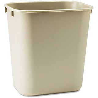 iLIVING Commercial Fiberglass Fire-Resistant Trash Can, 40 quart or 10 gal, Rectangular, Beige