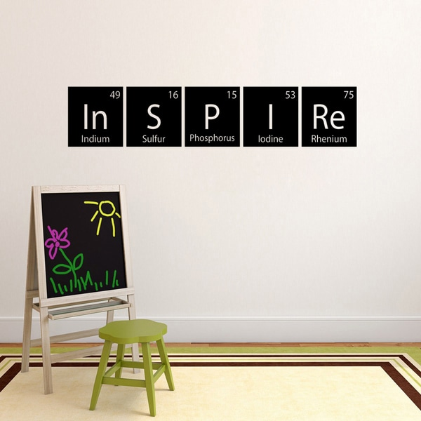 Inspire Periodic Table Wall Decal 60 Inch Wide X 11 5 Tall