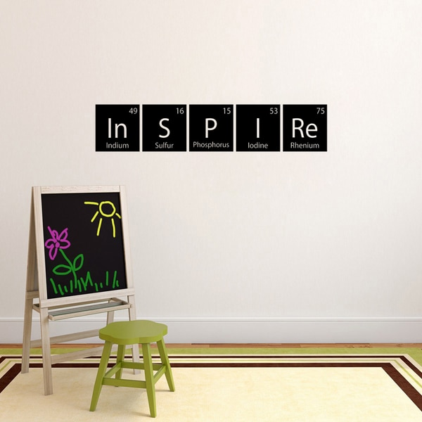 Inspire Periodic Table Wall Decal (48-inch wide x 9-inch tall)