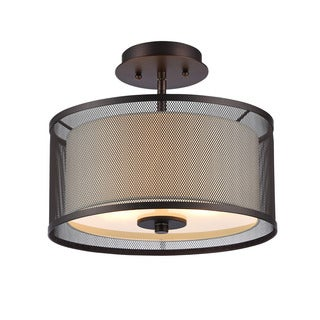 Chloe Transitional 2-light Oil Rubbed Bronze Flush Mount