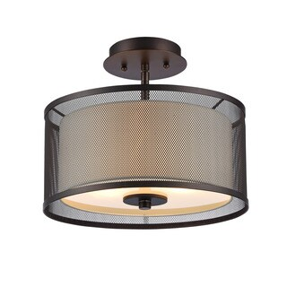 Clay Alder Home Talmadge Transitional 2-light Oil Rubbed Bronze Flush Mount