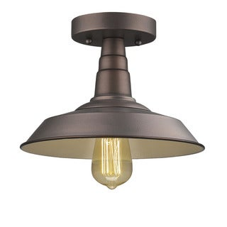 Chloe Transitional 1-light Oil Rubbed Bronze Flush Mount