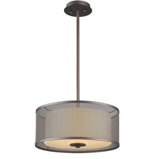 Chloe Transitional 3-light Oil Rubbed Bronze Pendant