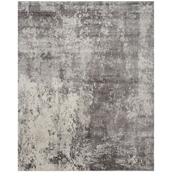 Safavieh Hand-knotted Mirage Grey Wool Rug - 9' x 12'