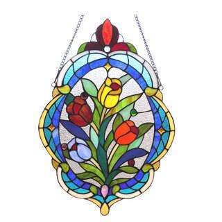 Chloe Tiffany Style Tulip Design Oval Window Panel - M