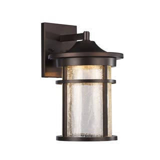 Chloe Transitional 1-light Oil Rubbed Bronze LED Outdoor Wall Lantern|https://ak1.ostkcdn.com/images/products/11815666/P18722446.jpg?impolicy=medium
