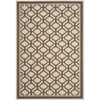 Martha Stewart By Safavieh Tangier Cream/ Chocolate Indoor/ Outdoor Rug (8u0027  X