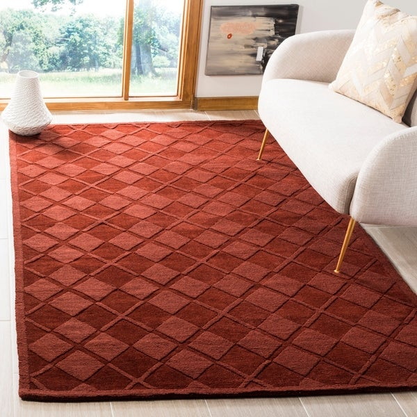 Martha Stewart by Safavieh Argyle Ohio Buckeye Wool Rug - 9' x 12'