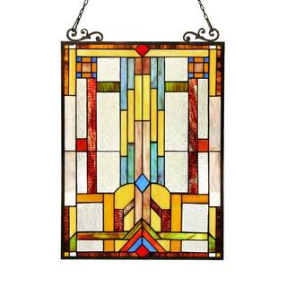 Chloe Tiffany Style Window Panel/Suncatcher - 25 x 18
