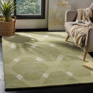 Martha Stewart by Safavieh Overlapping Diamond Grey/ Multi Wool Rug (9' x 12')