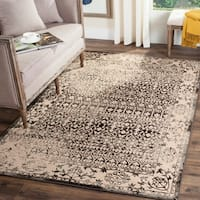 Safavieh Brilliance Vintage Cream/ Dark Grey Distressed Rug - 6'7 x 9'2