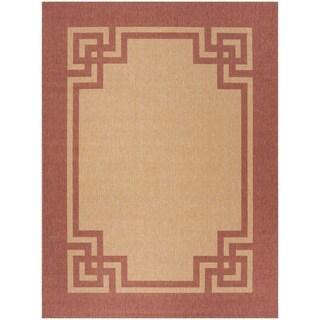 Safavieh Martha Stewart Collection Terracotta/ Beige Rug (8' x 11' 2)