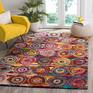 Safavieh Fiesta Shag Abstract Multicolored Rug (9' x 12')