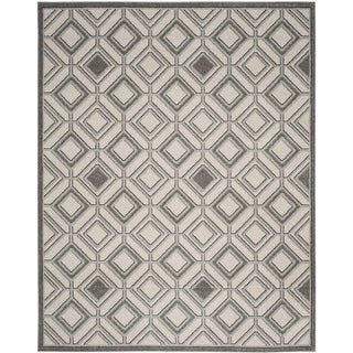 Safavieh Amherst Geneva Modern Indoor/ Outdoor Rug (8 x 10 - Ivory/Light Grey)
