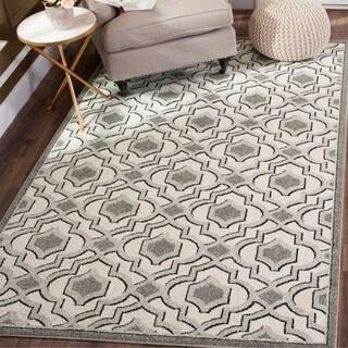 Safavieh Indoor/ Outdoor Amherst Ivory/ Grey Rug (8' x 10')