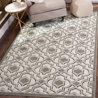 Safavieh Indoor/ Outdoor Amherst Ivory/ Grey Rug - 8' x 10'