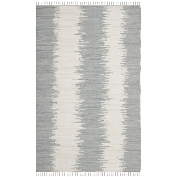 Safavieh Hand-Woven Montauk Grey Cotton Rug - 10' x 14'