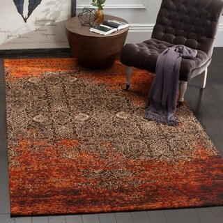 Safavieh Classic Vintage Rust/ Brown Cotton Distressed Rug (8' x 10')
