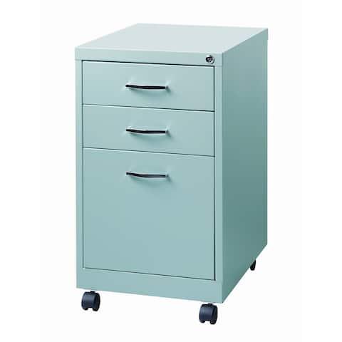 Porch & Den Penelope Platinum 19-inch 3-drawer Pedestal File