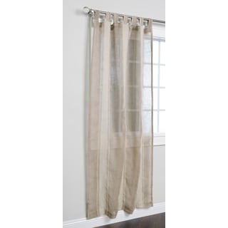 Kosas Home Greenwich Natural-colored Linen Tab Top 84-inch Panel