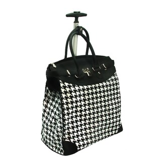 Rollies Classic Houndstooth 14-inch Rolling Laptop Travel Tote