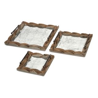 Santiago Wooden Trays - Set of 3
