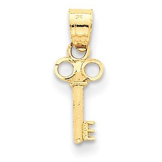 14k Yellow Gold Key Charm