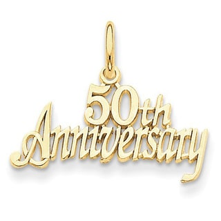 14k Yellow Gold 50th Anniversary Charm