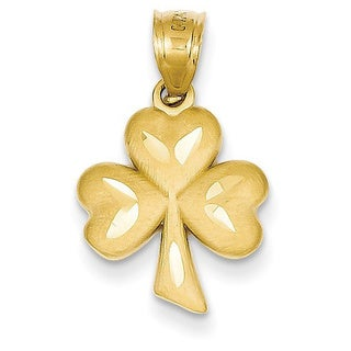 14k Yellow Gold Shamrock Charm
