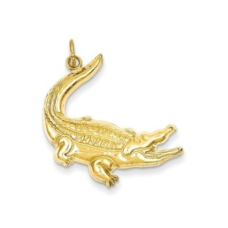 14k Yellow Gold Alligator Charm