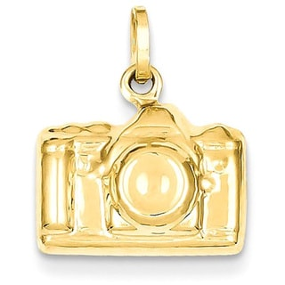 14k Yellow Gold 3D Polished Camera Charm
