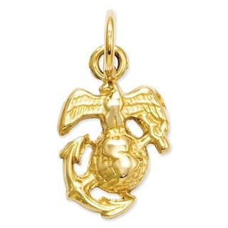 14k Yellow or White Gold U. S. Marine Corps Charm