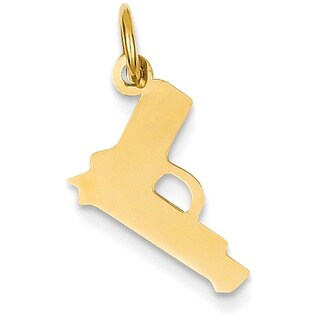 14k Yellow Gold Pistol Charm