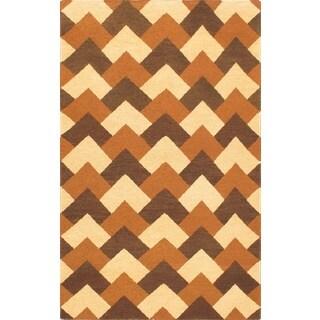 ecarpetgallery Handmade Chobi Sumak Beige Wool Sumak (3'9 x 5'9)
