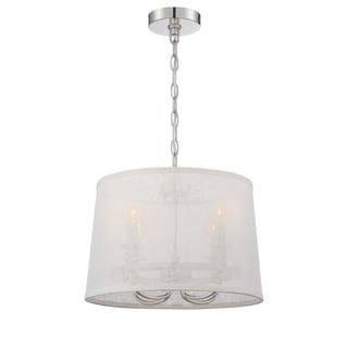 Crystorama Libby Langdon Culver Collection 4-light Polished Nickel Chandelier