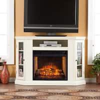 Gracewood Hollow Broker Ivory Convertible Media Infrared Fireplace